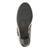 Leather pumps width H bata, gray , 623-2600 - 17