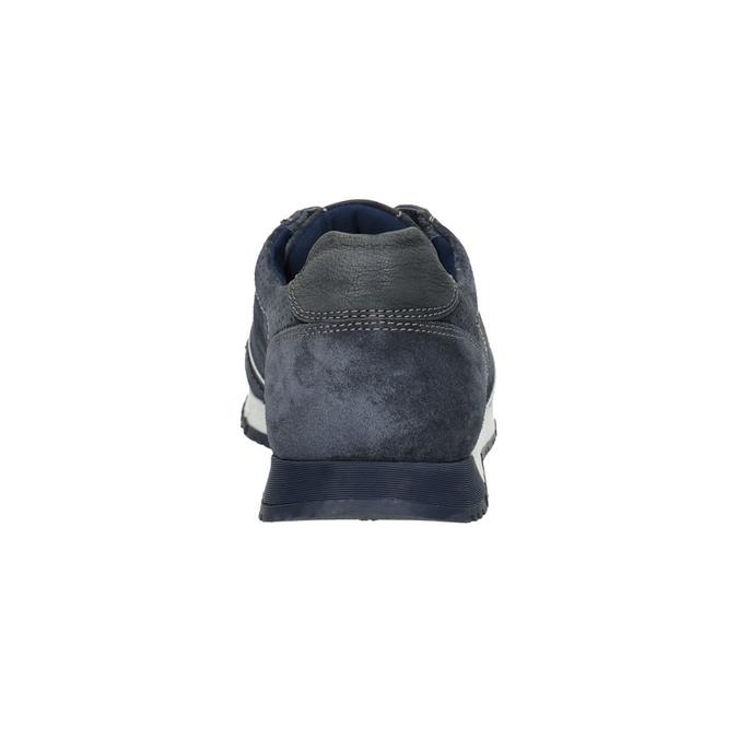 Men's leather sneakers bata, blue , 843-9624 - 17
