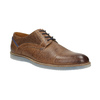 Leather shoes with transparent sole bata, brown , 826-3803 - 13