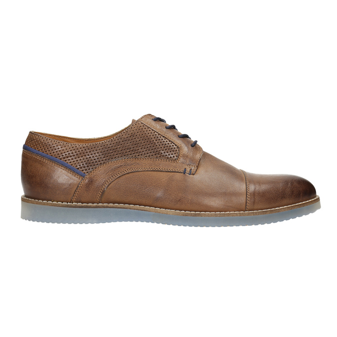 Leather shoes with transparent sole bata, brown , 826-3803 - 15