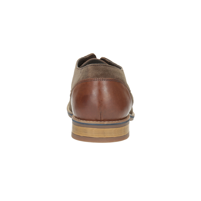 Men's brushed leather shoes bata, brown , 823-4606 - 17