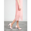 Pink leather pumps with cut-outs insolia, pink , 728-5637 - 18