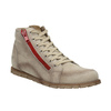 Ankle-cut leather shoes with a red zipper weinbrenner, brown , 596-8654 - 13
