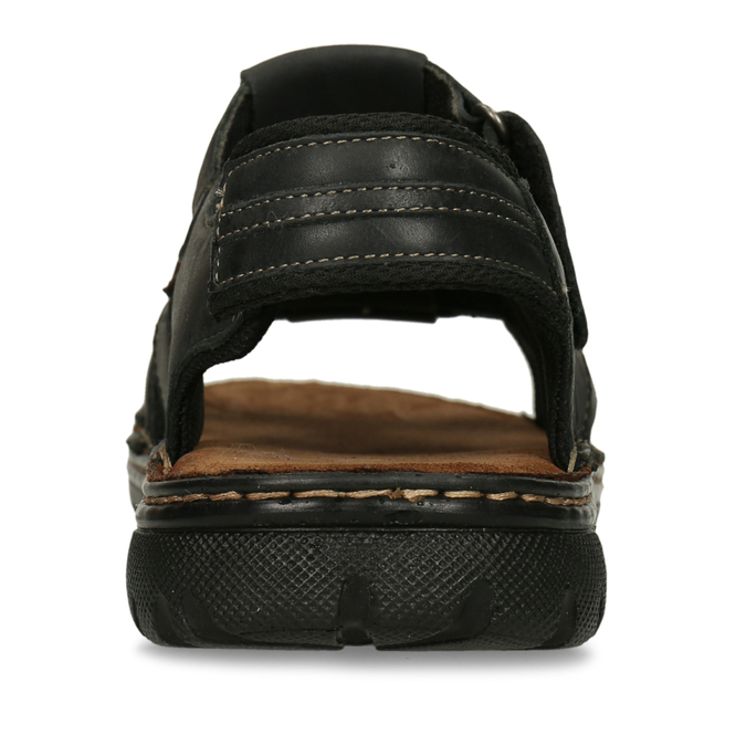 Men's leather sandals bata, brown , 866-4610 - 15