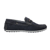 Brushed leather moccasins bata, blue , 853-9614 - 15