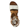 Leather flatform sandals bata, brown , 666-1605 - 19