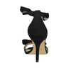Ladies' black heeled sandals insolia, black , 769-6614 - 17