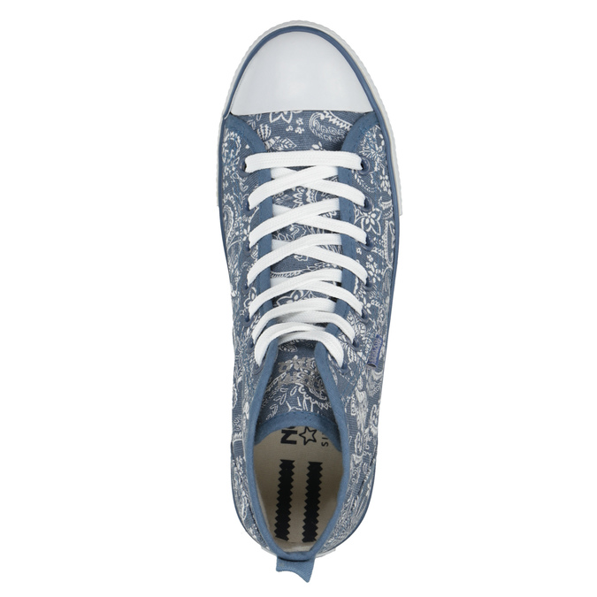 Ladies' patterned ankle sneakers north-star, blue , 589-9442 - 19