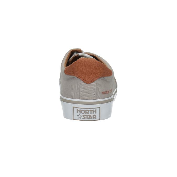 Men's casual sneakers north-star, brown , 889-2283 - 17