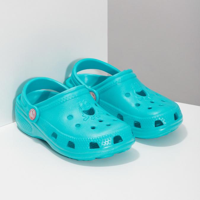 Children's turquoise sandals coqui, turquoise, blue , 372-9605 - 26