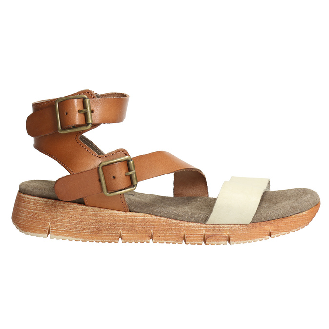 Leather sandals with a distinctive sole weinbrenner, brown , 566-4627 - 15