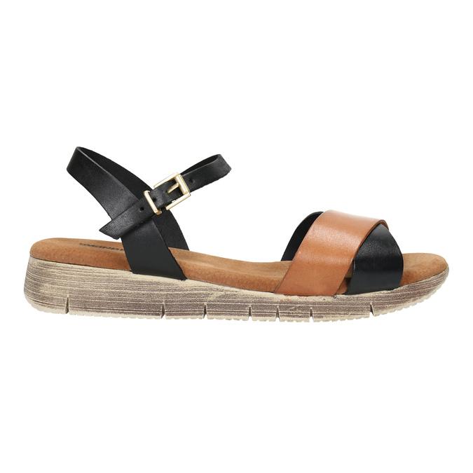 Ladies' sandals with distinctive sole weinbrenner, black , 566-6626 - 15