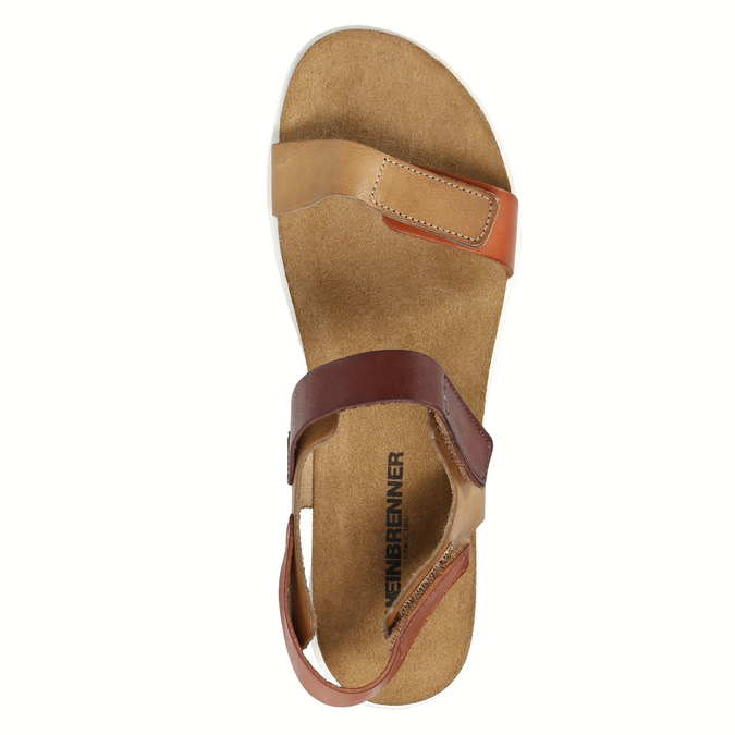 Ladies' leather sandals weinbrenner, brown , 566-4630 - 19