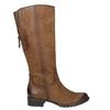 Brown leather Cossacks bata, brown , 596-4604 - 15