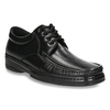 Men's shoes with stitching, black , 824-6542 - 13