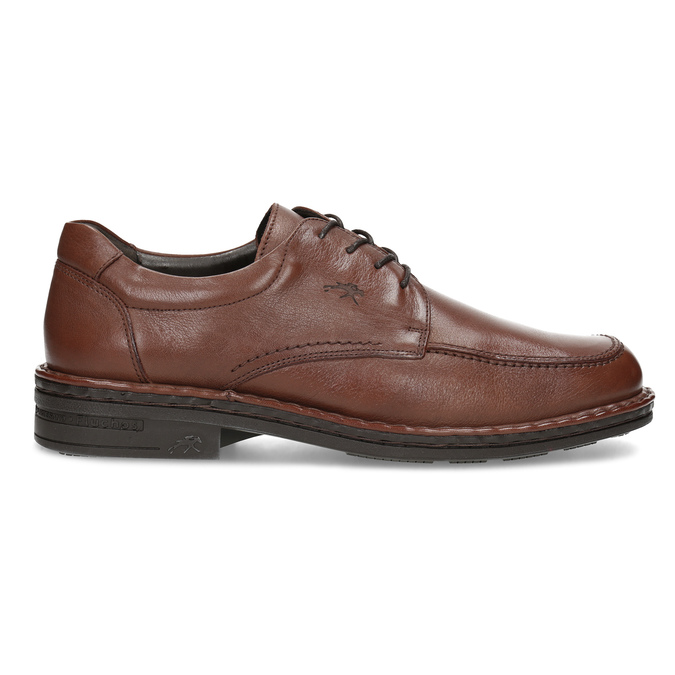 Brown leather dress shoes fluchos, brown , 824-3451 - 19