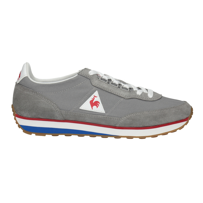 Men's grey sneakers with a distinctive sole le-coq-sportif, gray , 809-2272 - 15