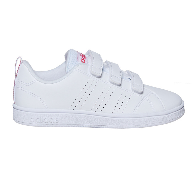 Girls' sneakers with Velcro adidas, white , 301-1268 - 15