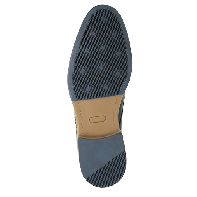 Informal leather shoes bata, blue , 826-9910 - 19