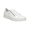 Leather ladies' sneakers with a zipper bata, white , 526-2630 - 13