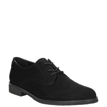 Ladies' shoes with stitching bata, black , 529-6632 - 13