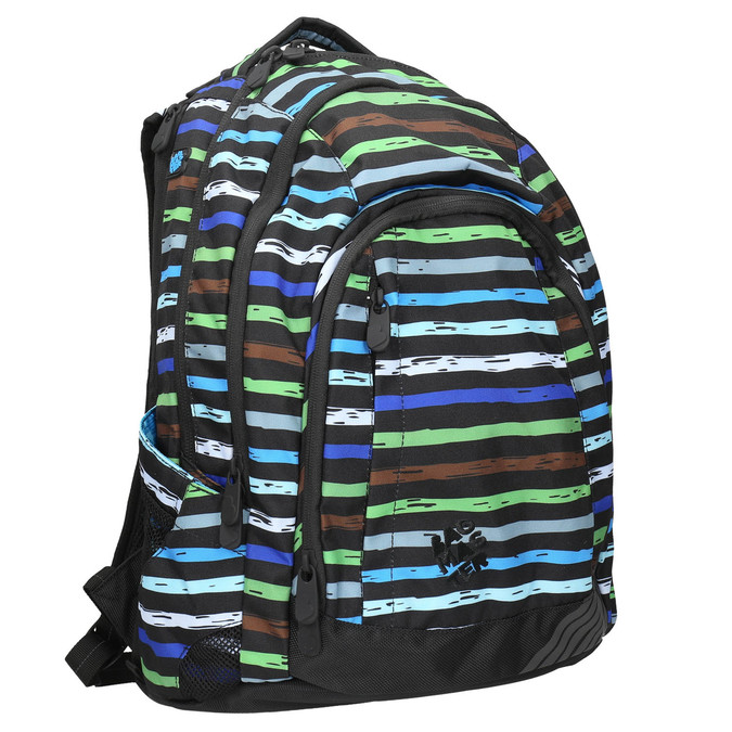 School backpack with stripes bagmaster, blue , 969-9651 - 13