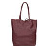 Burgundy leather Shopper handbag bata, red , 964-5522 - 16