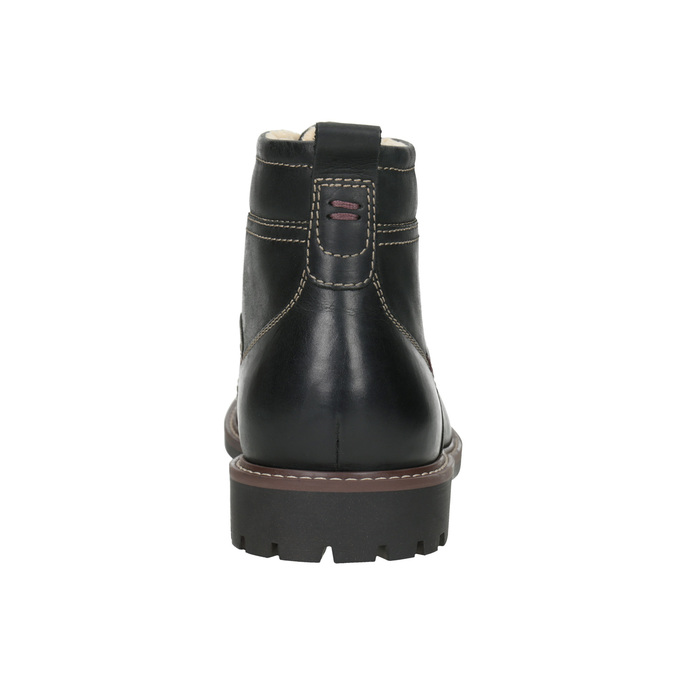 Leather winter shoes bata, black , 894-6642 - 16