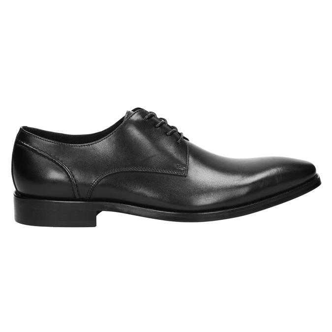 Black leather Derby shoes bata, black , 824-6405 - 15