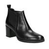 Ladies' Leather Ankle Boots bata, black , 694-6641 - 13
