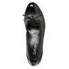 Leather pumps on a low heel gabor, black , 626-6116 - 26