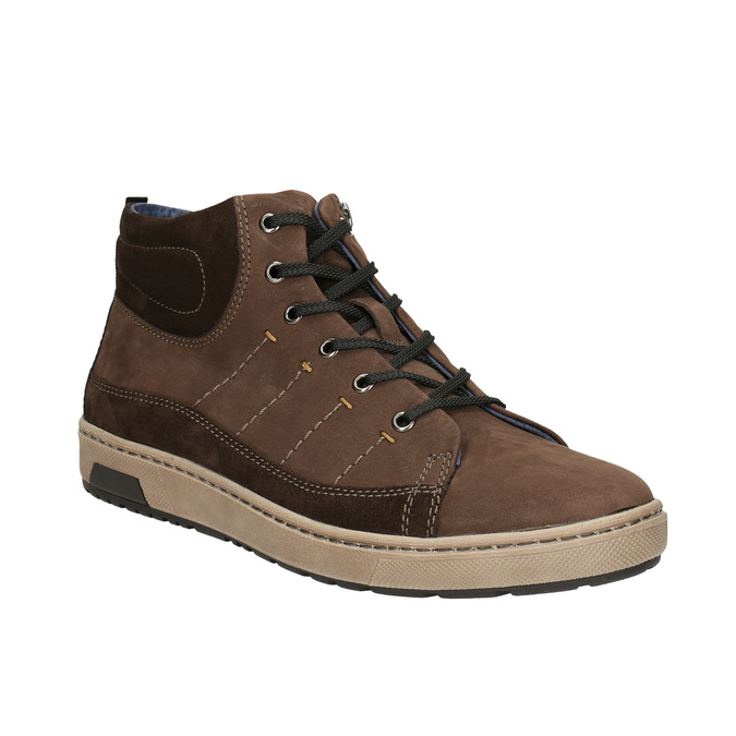 Men's ankle sneakers bata, brown , 846-4651 - 13