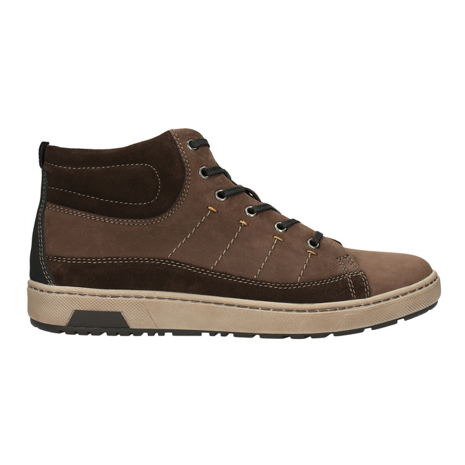 Men's ankle sneakers bata, brown , 846-4651 - 15