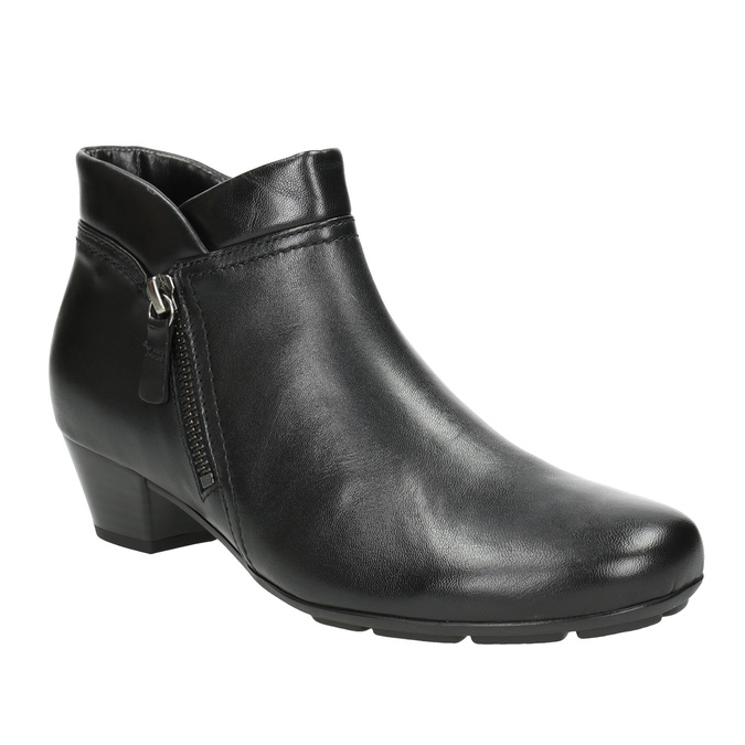 Leather Ankle Boots with Zip gabor, black , 614-6122 - 13