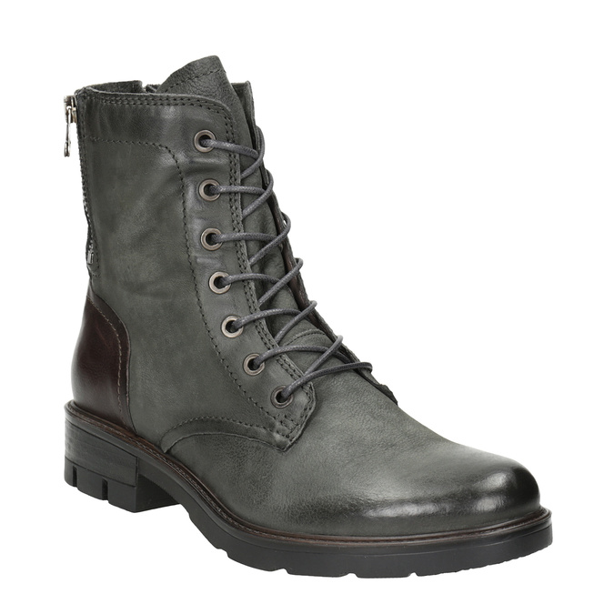 Ladies' Leather Boots bata, gray , 596-2616 - 13