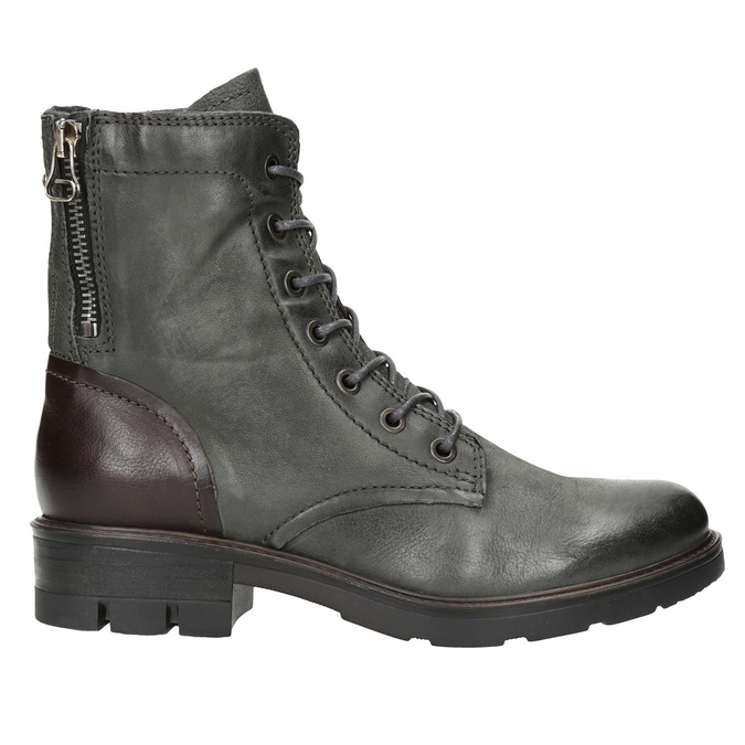 Ladies' Leather Boots bata, gray , 596-2616 - 26