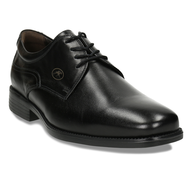 Men's Leather Derby Shoes fluchos, black , 824-6440 - 13