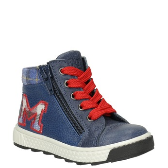 Kids' leather ankle boots bubblegummer, blue , 114-9603 - 13