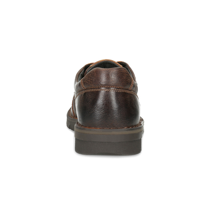 Men's leather shoes with distinctive sole bata, brown , 826-4917 - 15