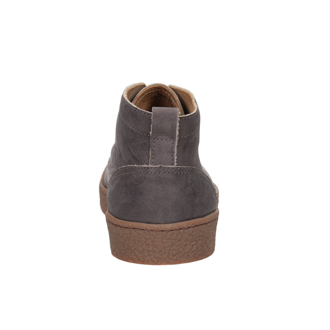 Men's leather ankle boots bata, brown , 846-4652 - 16
