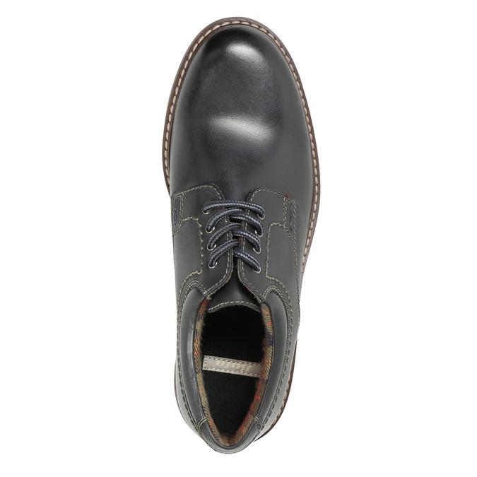 Men's leather shoes bata, black , 826-6619 - 19
