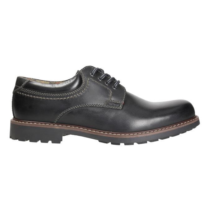 Men's leather shoes bata, black , 826-6619 - 15