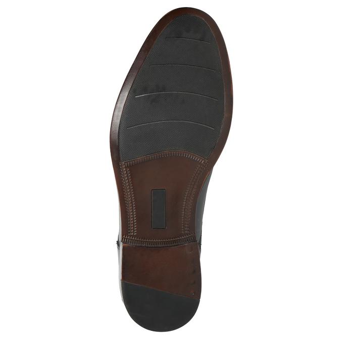Men's blue leather shoes bata, blue , 826-9913 - 19