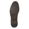Men's leather shoes with stitching bata, brown , 826-4610 - 19