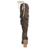Ladies' wrinkled high boots bata, brown , 799-4614 - 17