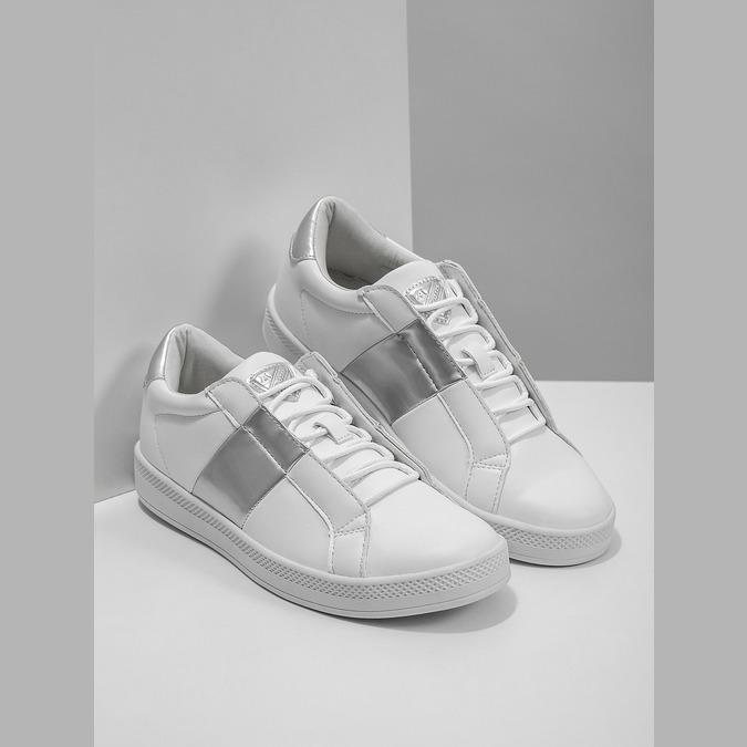 Ladies' White Sneakers, white , 501-1171 - 18