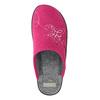 Ladies' Pink Slippers bata, red , 579-5621 - 26