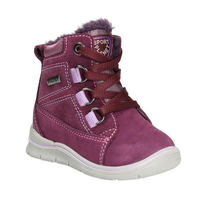 Children's Leather Winter Boots bubblegummer, violet , 196-5600 - 13