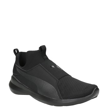 Black Ladies' Laceless Sneakers puma, black , 509-6200 - 13