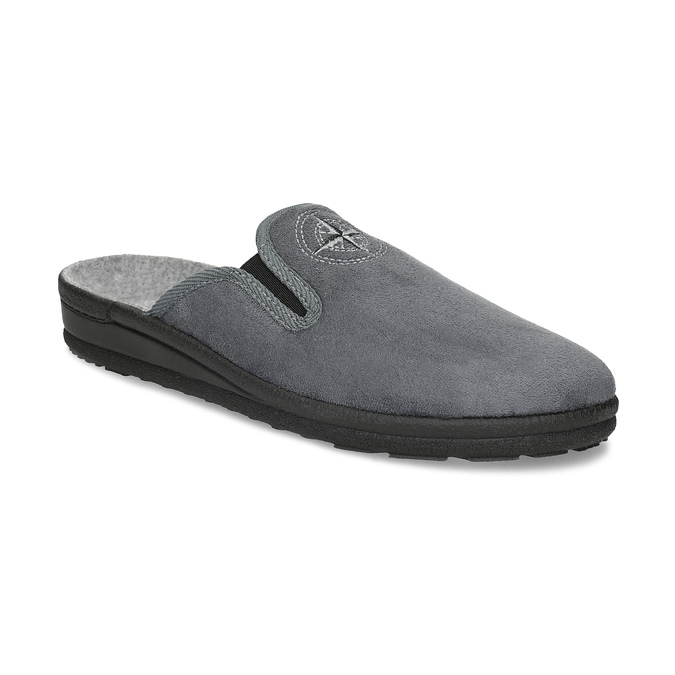 Men's Slippers bata, gray , 879-2610 - 13